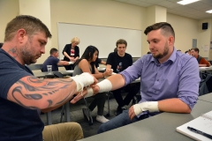 Students learn injury care