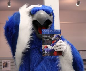 Ossie the Osprey enjoys the fame that comes from being on the Connections Magazine cover.