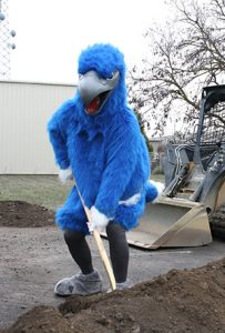 Ossie participates at the ground-breaking ceremony for the Technical Center