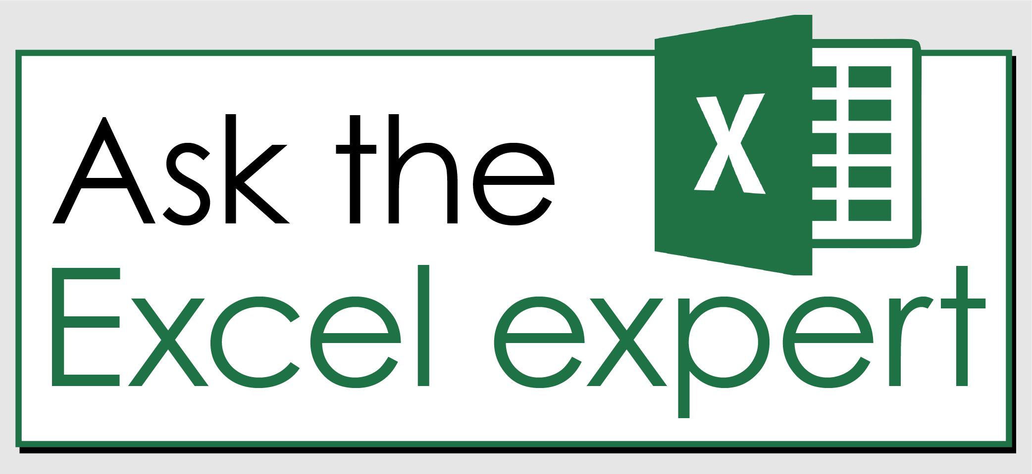 click here to ask the excel expert