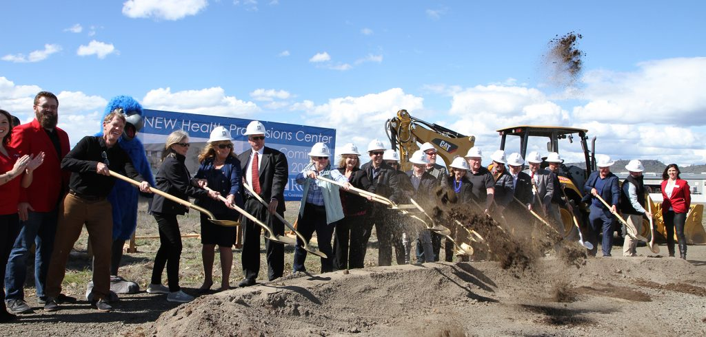 RCC broke ground on a $21.25 million Health Professions Center that will bring together all of the college's clinical health care programs at the Table Rock Campus.