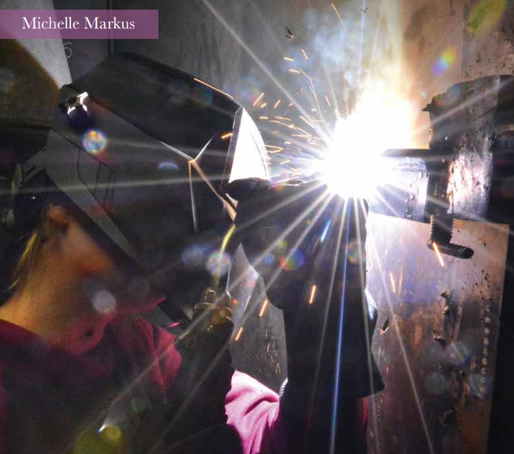 Michelle Markus welding at RCC
