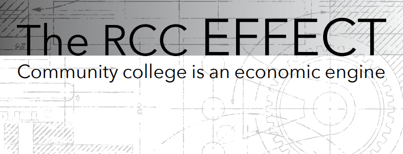 The RCC effect on a set of gears Community college is an economic engine