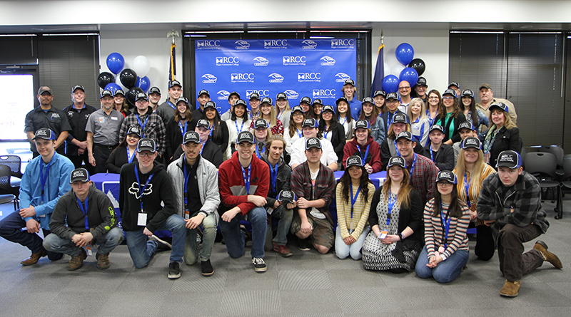 Forty students from nine area high schools participated in the third annual CTE Signing Day at Rogue Community College.