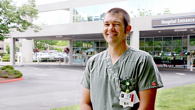 Ted Wise stands outside Asante Three Rivers Medical Center.