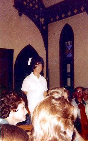 Millie Shawn graduating from the RCC Licensed Practical Nurse (LPN) program in 1974.