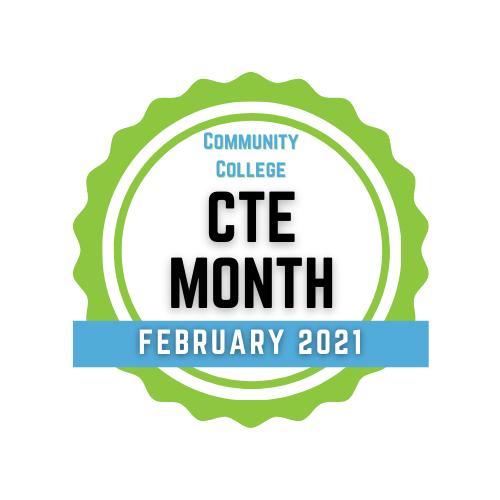 Community College CTE Month badge