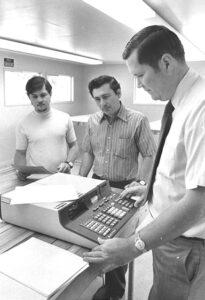 1970s math department photo
