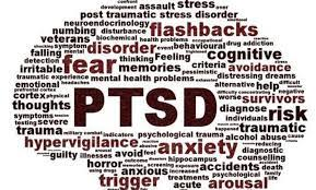 word cloud of terms associated with PTSD
